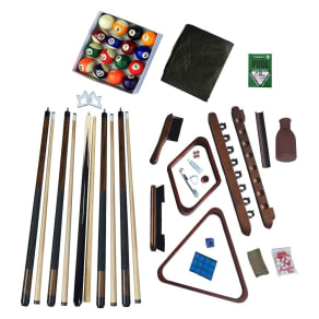 Hathaway Deluxe Billiards Accessory Kit - Walnut (Brown) Finish