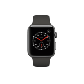 Apple Watch Series 3 - 42mm - Space Gray Aluminum - Gray Sport