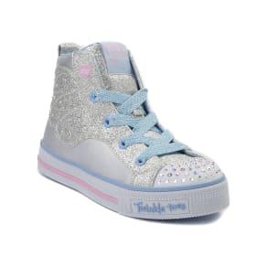 b6a57e2ea6a070 Youth Skechers Twinkle Toes Wing Hi Sneaker