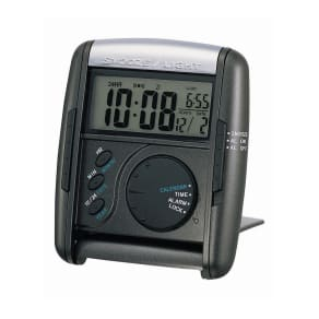 Seiko Black Digital Travel Alarm Clock Qhl004klh