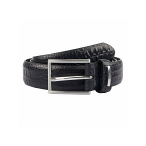 Dents Mens Leather Belt, Black