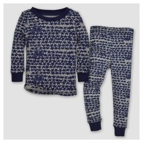 Burt's Bees Baby Boys' Organic Clustered Star T-Shirt & Pants Pajama Set - Starry Night 2t, Blue