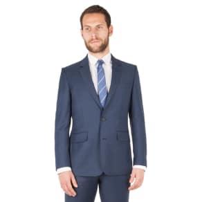 Hammond & Co. by Patrick Grant - Dark Blue Plain 2 Button Front Tailored Fit St James Suit Jacket