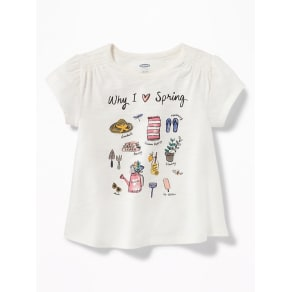 Old Navy Baby Graphic Slub-Knit Swing Top For Toddler Girls Why I Love Spring -