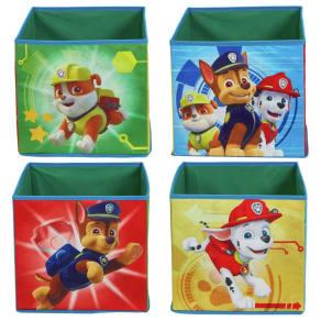 Paw Patrol Chase Set of 4 Fabric Storage Cubes