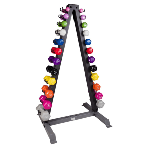 Body Solid Vertical Dumbell Rack With 12 Pairs Neoprene Dumbells 1-15lbs - (Gdr24-Npack), Multi-Colored