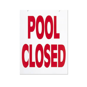 Null Pool Closed Sign