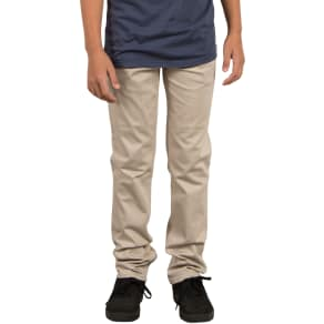Boy's Volcom Vorta Slim Fit Chinos, Size 22 - Beige