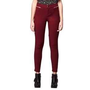 Yumi Red Double Pocket Jeggings
