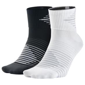 93c150c25 Nike Performance Lightweight Quarter Running Socks, Pack of 2, Black/White. John  Lewis & Partners