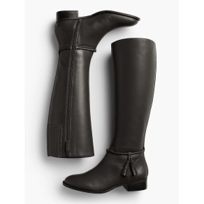 Talbots Women's Tish Braid Tassel Riding Boots