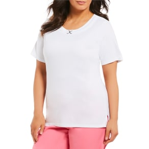 Allison Daley Plus Metal D-Ring Solid Crew Neck Tee