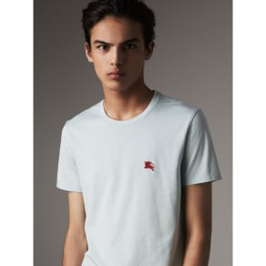 Burberry Cotton Jersey T-shirt, Size: M, Blue