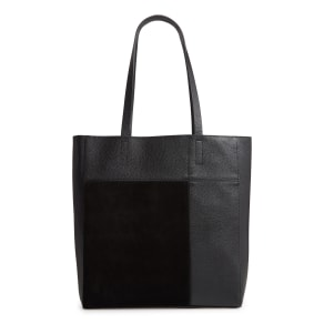 Treasure & Bond Andi Leather & Suede Tote - Black