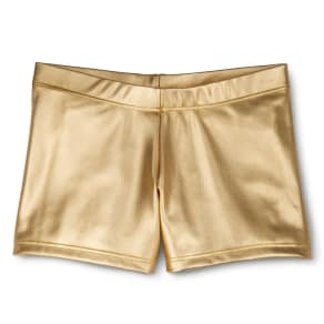 Danz N Motion by Danshuz Girls' Activewear Shorts Gold L