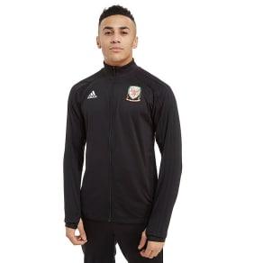 Adidas Fa Wales 2018/19 Full Zip Track Top - Black - Mens