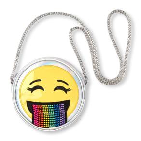Girls  Holographic Rainbow Emoji Bag - Metallic