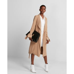 Express Womens Soft Drape Trench Coat