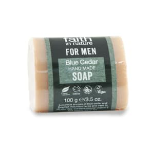 Faith in Nature for Men Blue Cedar Soap 100g - 100g, Blue