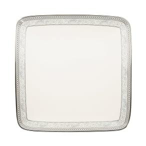 Noritake Meridian Cirque Filigree Platinum Small Square Plate