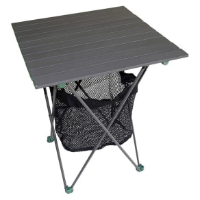 Aluminum Roll Table With Storage, Dark Gret