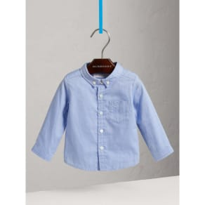 Burberry Cotton Oxford Shirt, Size: 9M, Blue
