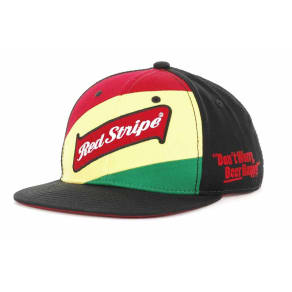 Red Stripe Red Stripe Red Stripe Snapback Cap