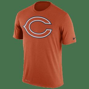 Chicago Bears Nike Nfl Dri-Fit Logo Essential T-Shirt - Mens - University Orange