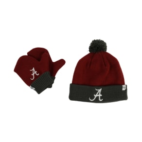 '47 Brand Toddlers' Alabama Crimson Tide Knit Hat and Mittens Set
