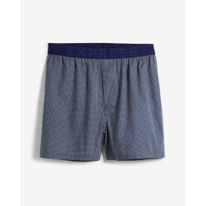 Express Mens Geometric Print Exposed Waistband Woven Boxers