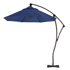 Sunline 9' Cantilever Market Umbrella Deluxe Crank Lift-Olefin, Choice of Color, Terrace Fern