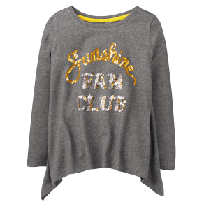 Girl's Fan Club Swing Tunic by Gymboree - Size Xs - Slate Grey - Slate Grey