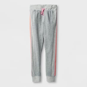 Girls' Activewear Jogger Pants - Cat & Jack Heather Gray L