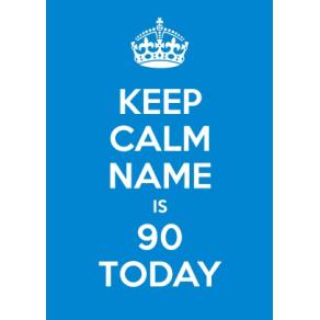 90th Blue | Ninetieth Birthday Card