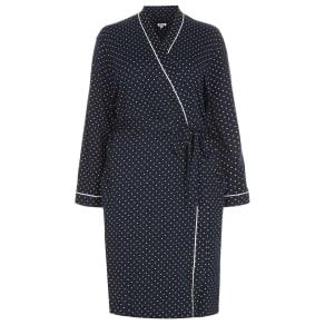 Navy Spot Print Dressing Gown c634f3c6a
