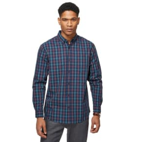 Maine New England Navy Checked Shirt