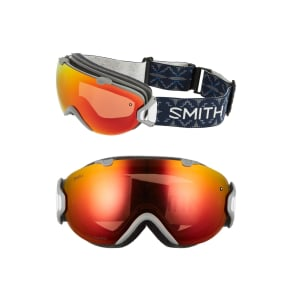 Women's Smith 'I/Os' 190mm Snow Goggles - Frost Woolrich/ Chromapop
