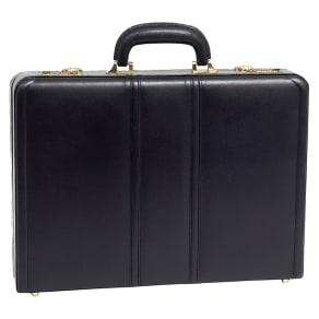 McKlein Leather Attache Case - Black