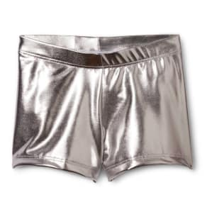 Danz N Motion by Danshuz Girls' Activewear Shorts Silver L
