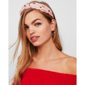 Express Womens Natasha Floral Knot Headband