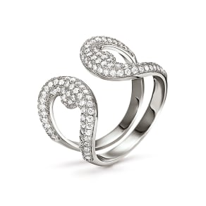 Folli Follie Fashionably Silver Openwork Ring, Silver