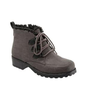 Trotters Snowflakes III Suede Leather Cold Weather Block Heel Booties