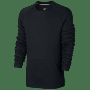Nike Tech Fleece Crew - Mens - Black/Black