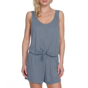 Becca by Rebecca Virtue Breezy Basic Knot Front Romper Swimsuit Cover-Up