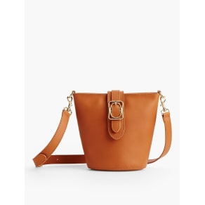 Talbots Women's Square Oval Bucket Bag: Vachetta Leather