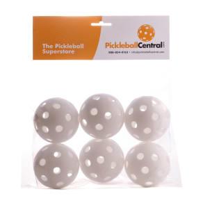 Pickleball Central 6 Pack Jugs Indoor White Pickleball