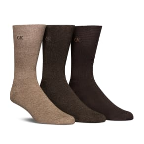 Calvin Klein Cushion Sole Crew Dress Socks 3-Pack