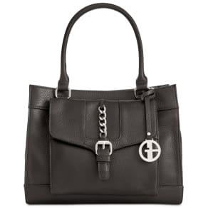 Giani Bernini Pebble Leather Small Satchel, Created for Macy's