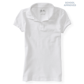 Kids' Solid Uniform Piqu Polo