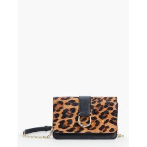 Talbots Women's Horsebit Crossbody Bag Leopard Print